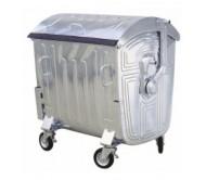 Container 1100 L galvanizat (metalic)