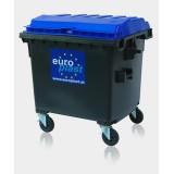 Container 1100 L cu capac plat